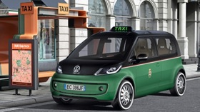 The Volkswagen Milano Taxi electric vehicle. (Photo from Gizmag.com.)