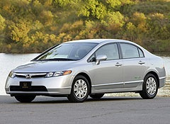 The natural gas-powered Honda Civic GX NGV. (Photo courtesy of Consumer Reports.)