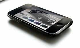 The Rolls-Royce application on the iPhone. (Photo courtesy of AutoWeek.)
