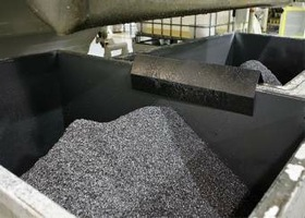 GM's recycling efforts include reusing aluminum shavings for transmission parts. (Photo courtesy of GM.)