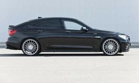Hamann's enhancements give the BMW 5-series GT more power and a sinister appearance. (Photo courtesy of Hamann.)