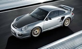 The twin-turbo six-cylinder engine in the Porsche 911 GT2 RS cranks out 620 hp.