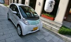 The Mitsubishi i-MiEV. (Photo by Dino Dalle Carbonare, via AutoWeek.)