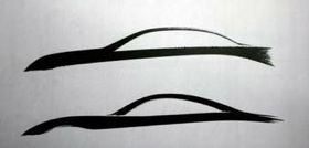 Two teaser sketches from Infiniti. (Images courtesy of Infiniti.)