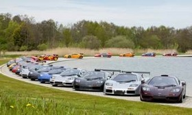 Twenty-one McLaren F1 cars were brought together at the McLaren tech center to celebrate the 20th anniversary of the start of the project. (Image courtesy of AutoWeek.)