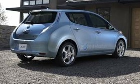More than 130,000 people have expressed interest in the Nissan Leaf electric car. (Photo from AutoWeek.)