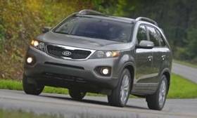 The 2011 Kia Sorento EX V6 earned an overall score of 82 during recent Consumer Reports tests.