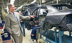 Spyker CEO Victor Muller, shown during a March visit to Saab's factory in Trollhattan, Sweden, says of his recently acquired automaker,