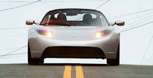 The Tesla Roadster is among a new wave of green cars derived from new materials. (Photo courtesy of Tesla)
