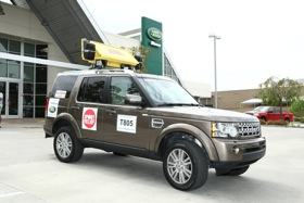 The Land Rover LR4 is the lead support vehicle for Steve Redgrave's team in the Race Across America. (Photo courtesy of Land Rover.)