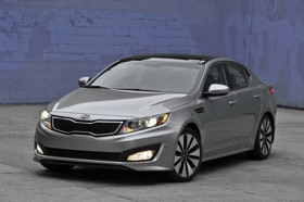 The Kia Optima. (Photo courtesy of Kia.)