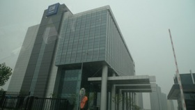 The GM headquarters in Shanghai, China. (Photo by Josh Condon.)