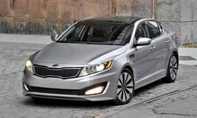 In South Korea, the sedan based on what is called the Optima in the United States is named the K5. (Photo from AutoWeek.)