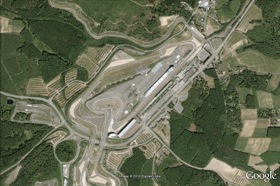 An aerial view of Germany's famed Nurburgring. (Photo via Google.)