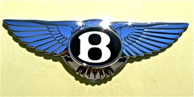 The Bentley badge. (Photo by Josh Condon.)