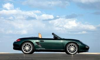 Porsche will test three electric versions of the Boxster. The conventional model is shown. (Photo courtesy of Porsche.)