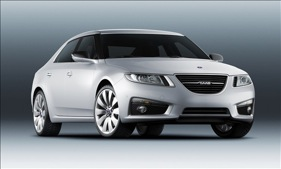The redesigned Saab 9-5. (Photo courtesy of Saab.)