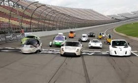 The finalists of the Automotive X Prize. (Photo via AutoWeek.)