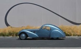 This 1936 Bugatti Type 57C Atlantic is on display at the Mullin Automotive Museum in Oxnard, Calif.--but only for a short time. (Photo from AutoWeek.)