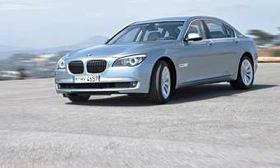 The BMW 7-series sedan carries a $1,000 gas-guzzler fee in the United States. (Photo courtesy of AutoWeek.)