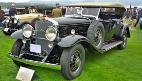 1930 Cadillac 452 Fleetwood Sport Phaeton, owned by George Holman of Wilbraham, MA. (Photo by Josh Condon.)