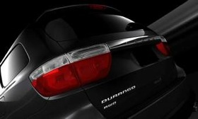 A partial view of the rear of the 2011 Dodge Durango. (Photo courtesy of AutoWeek.)