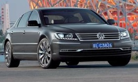 Volkswagen showed the redesigned Phaeton sedan in China in June. (Photo courtesy of Volkswagen.)