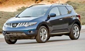 The convertible version of the Nissan Murano will have only two doors, compared with the four-door hardtop version, shown. Dealers expect the convertible version to arrive next year. (Photo courtesy of Nissan.)