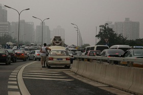 The nine-day-long (and counting) Beijing traffic jam. (Photo from popsci.com.)