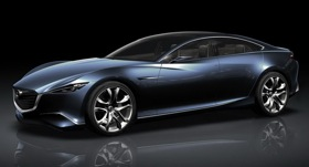 The Mazda Shinari concept vehicle. (Photo via Autonews.)