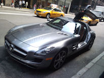 2011 SLS AMG on streets of Manhattan (Chuck Tannert)