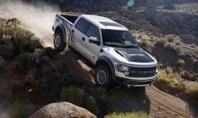 The SuperCrew cab option for the 2011 Ford F-150 SVT Raptor adds 12 inches to the wheelbase and overall length of the pickup. Dealers start taking orders on Friday. (Photo courtesy of Ford.)