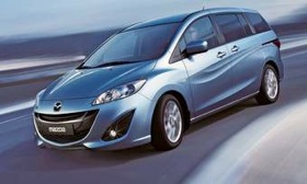 The redesigned Mazda 5, with the Nagare design language, will have an updated interior and a more fuel-efficient engine. (Photo courtesy of Mazda.)