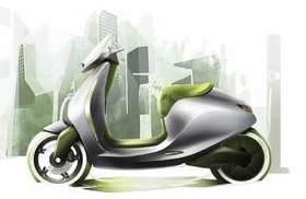 Smart will reveal a new electric scooter in Paris. (Image by Smart.)