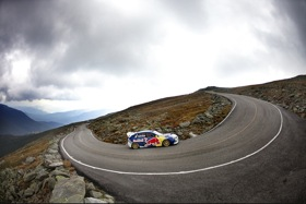 Travis Pastrana tackling the Mt. Washington Auto Road. (Photo by Brian Nevins for Red Bull.)