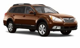 Until new models arrive for the 2012 model year, the year-old Outback, shown, and the Legacy are the newest vehicles in Subaru's U.S. lineup. (Photo by AutoWeek.)