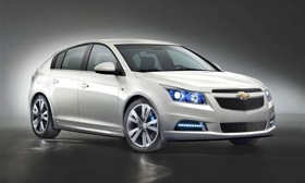 The Chevrolet Cruze hatch, which will not be coming to the U.S. (Photo courtesy of GM.)