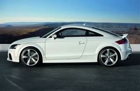 The RS is the performance version of the TT coupe. It's been approved for sale in the United States. (Photo courtesy of Audi.)