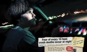As part of a NHTSA campaign, posters at www.nhtsa.gov cite statistics about nighttime driving, texting while driving and teens driving with two or more teen passengers. (Via AutoWeek.)