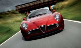 The 2012 Dodge Viper concept looks a lot like the Alfa Romeo 8C Competizione. (Photo courtesy of Alfa Romeo.)
