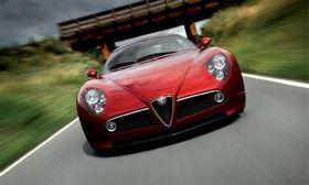 The 2012 Dodge Viper concept looks a lot like the Alfa Romeo 8C Competizione. (Photo courtesy of Alfa Romeo.)