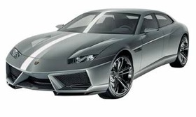 The Estoque is likely to debut in the United States in 2013. (Image courtesy of Lamborghini.)