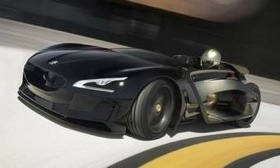 The Peugeot EX1 is propelled by two electric motors. (Photo courtesy of AutoWeek.)