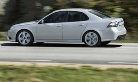 Saab wants to use BMW engines in the next-generation Saab 9-3. The current 9-3 is shown. (Image courtesy of AutoWeek.)