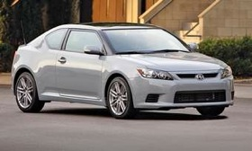 A new engine gives the redesigned 2011 Scion tC sport coupe quicker acceleration. (Photo courtesy of Toyota.)