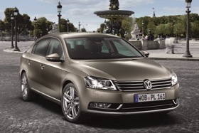 The seventh-generation Volkswagen Passat. (Photo courtesy of Volkswagen.)