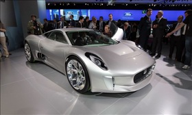 The Jaguar C-X75 Concept vehicle. (Photo from MSN Autos.)