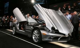 This Mercedes McLaren SLR sold for $412,500 at the Barrett-Jackson auction in Las Vegas. (Photo courtesy of Barrett-Jackson.)