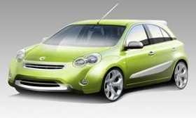Smart USA's sketch of a Nissan-built small car that it plans to start selling in late 2011. (Image courtesy of AutoWeek.)