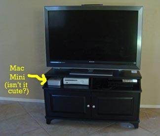 Kim's TV setup